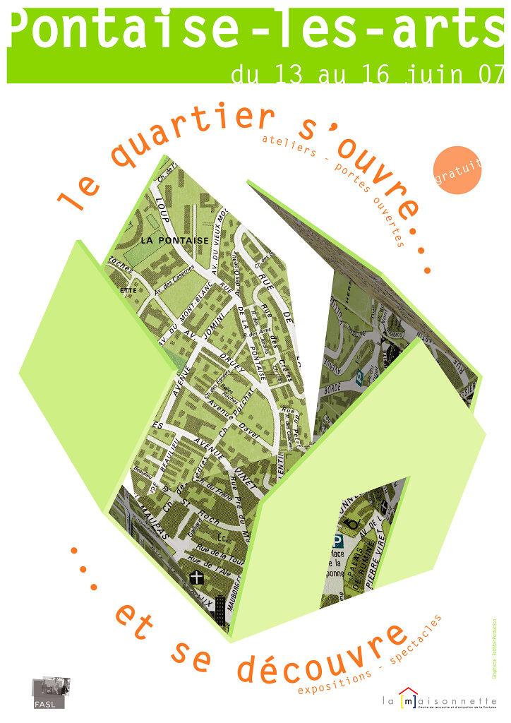 """Affiche pour l'événement """"Pontaises-les-Arts"""""""