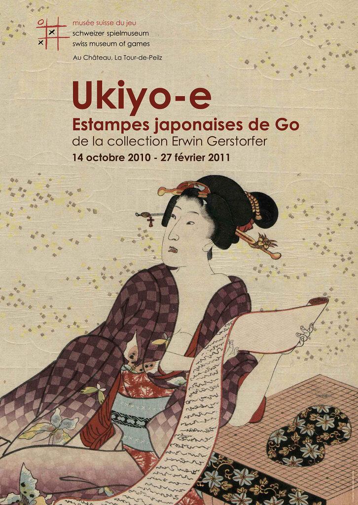 """Affiche pour l'exposition """"Estampes japonaises de Go"""""""