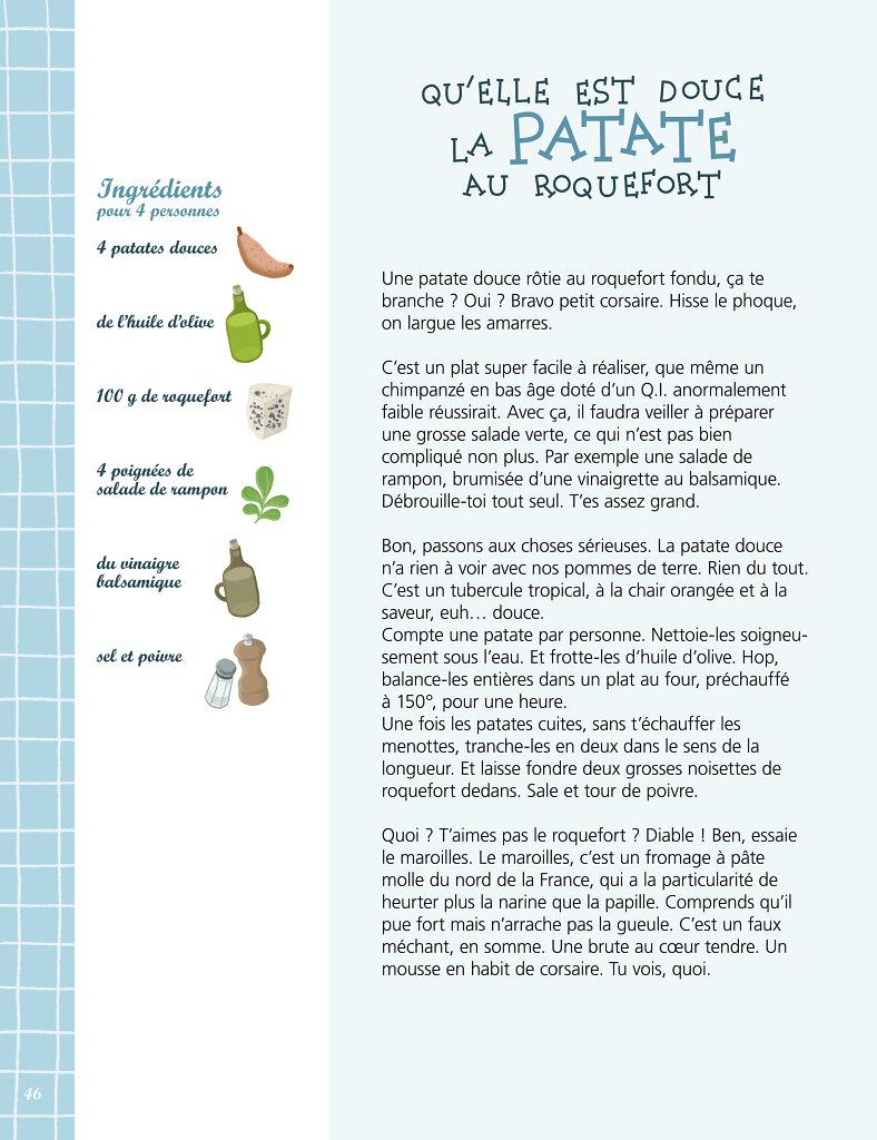 Recette de pomme de terre au Roquefort