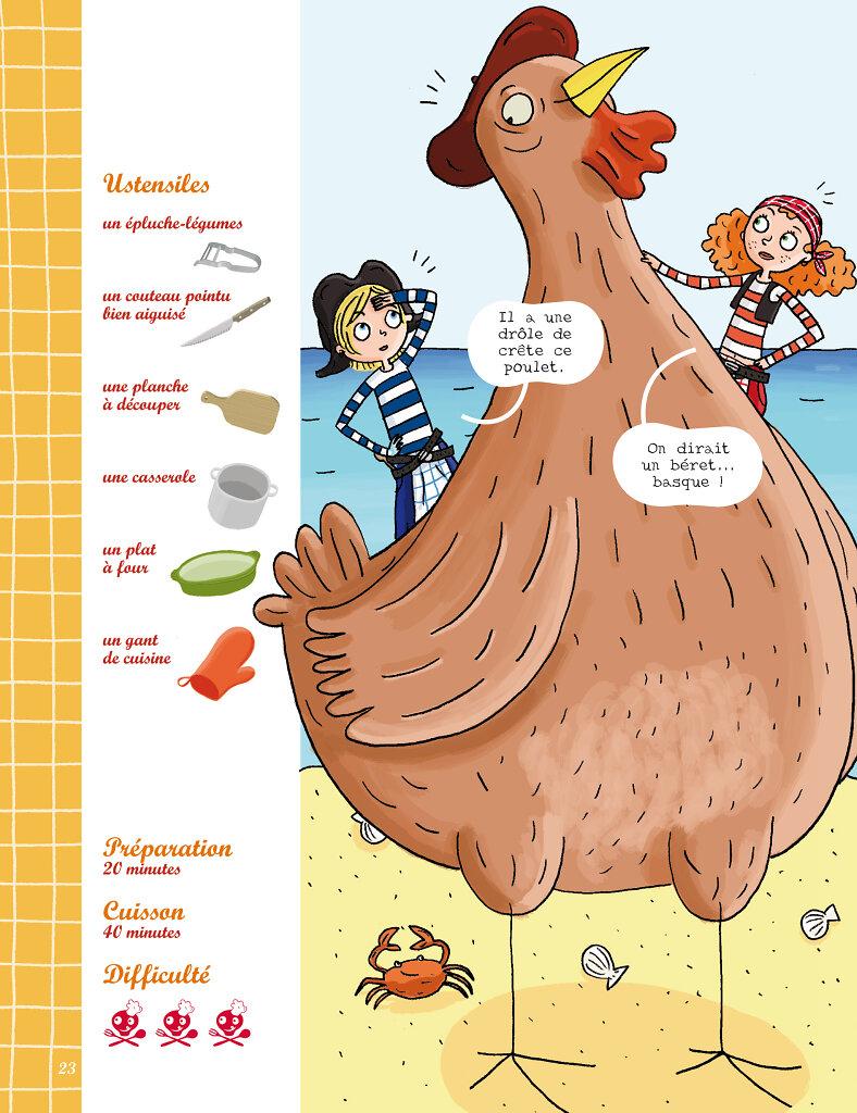 Recette de poulet à la basquaise