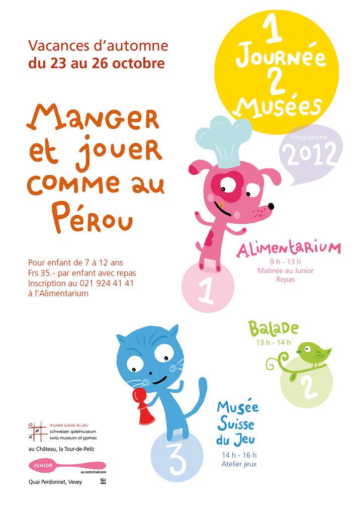 """Flyer """"1 journée, 2 musées"""" 2013"""