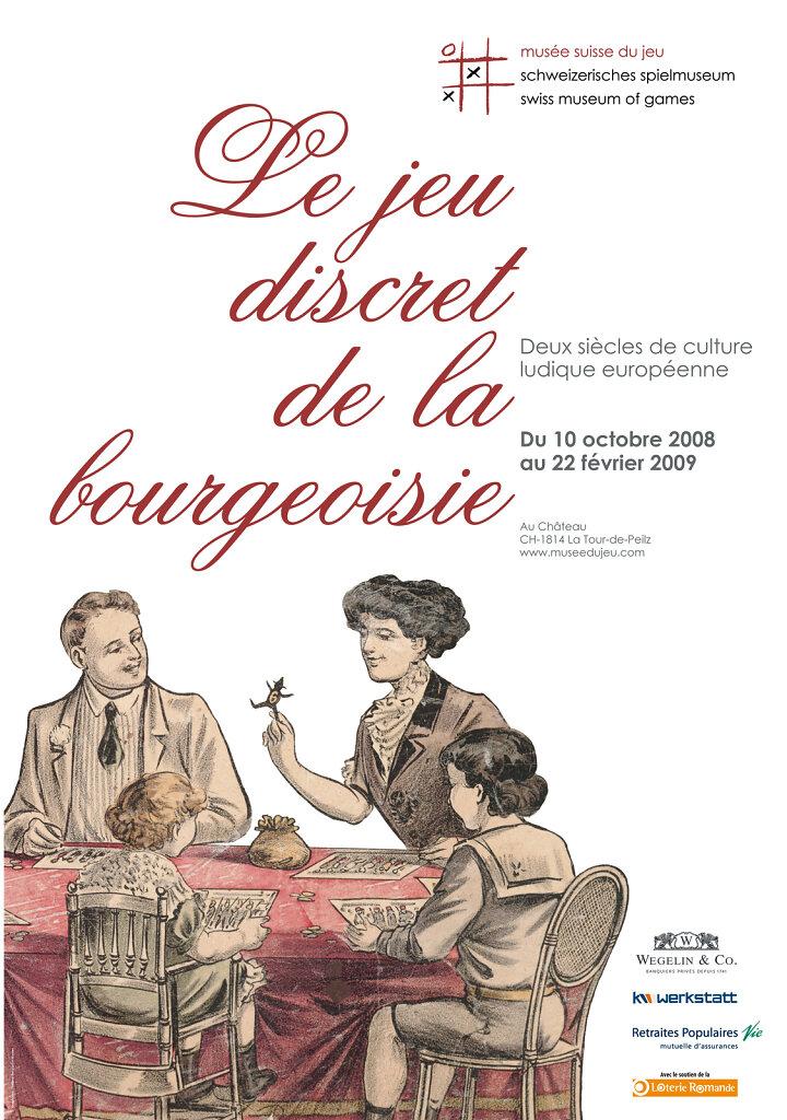 """Affiche pour l'exposition """"Le jeu discret de la bourgeoisie"""""""
