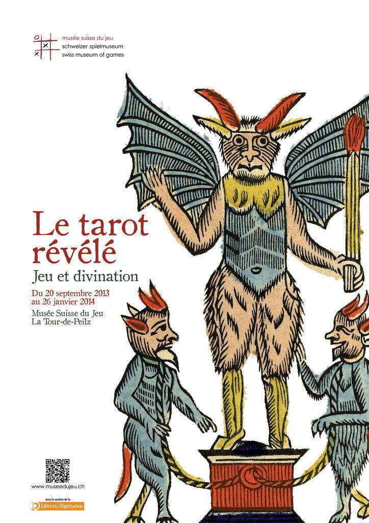 """Affiche pour l'exposition """"Le Tarot révélé, jeux et divination"""""""
