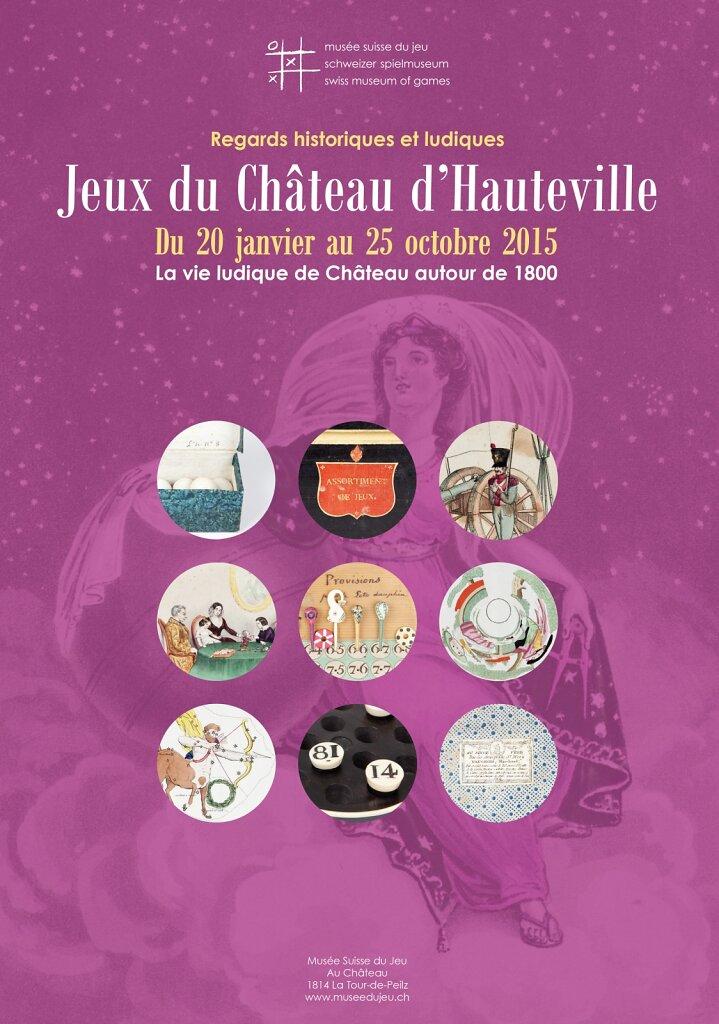 """Affiche pour l'exposition """"Jeux de Château d'Hauteville"""""""
