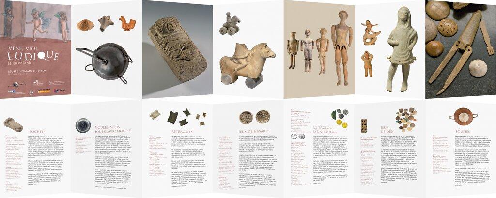 """Leporello """"Veni, vidi, ludique"""" pour le Musée romain de Nyon"""