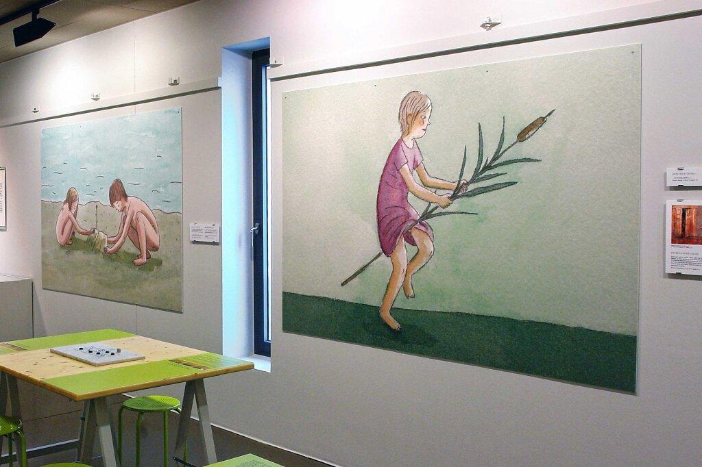 """Illustrations pour l'exposition """"Veni, vidi, ludique, les jeux sont faits"""" au Musée romain de Vallon"""