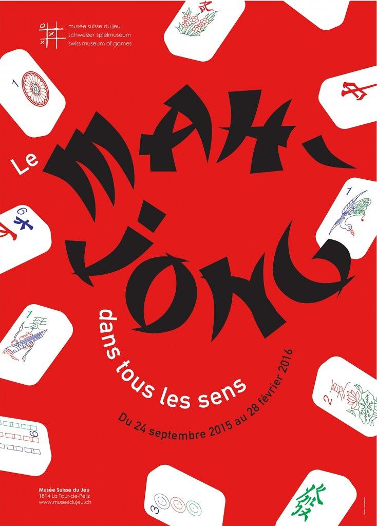 """Affiche pour l'exposition """"le Mah-Jong dans tous les sens"""""""