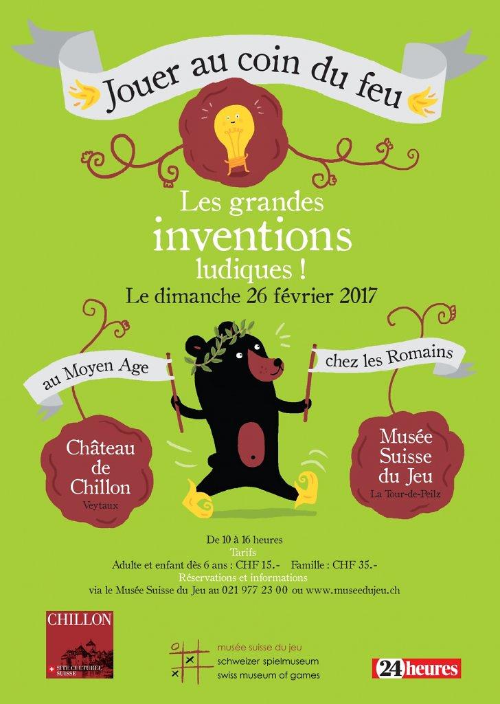 Flyer pour le Château de Chillon et le Musée Suisse du Jeu.